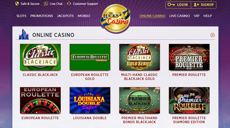 Lucks Casino Games Online