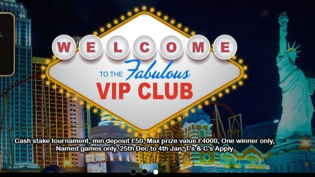 Welcome Offers and VIP Club Site