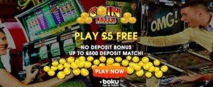 CoinFalls Scratch Cards with No Deposit Bonus Online