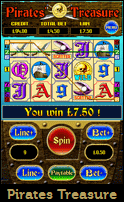 Play Pirtaes Treasure Mobile Slot Game.