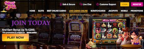 SlotJar Live Casino Free Bonus