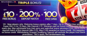 signup bonus, free spins, and deposit match casino