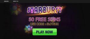 free starburst spins no deposit