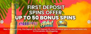 deposit bonus free spins