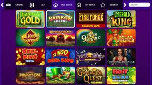 screenshot of the diamond casino site